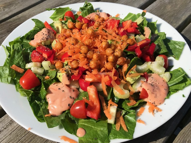 Carrot, Celery and Chickpea Salad