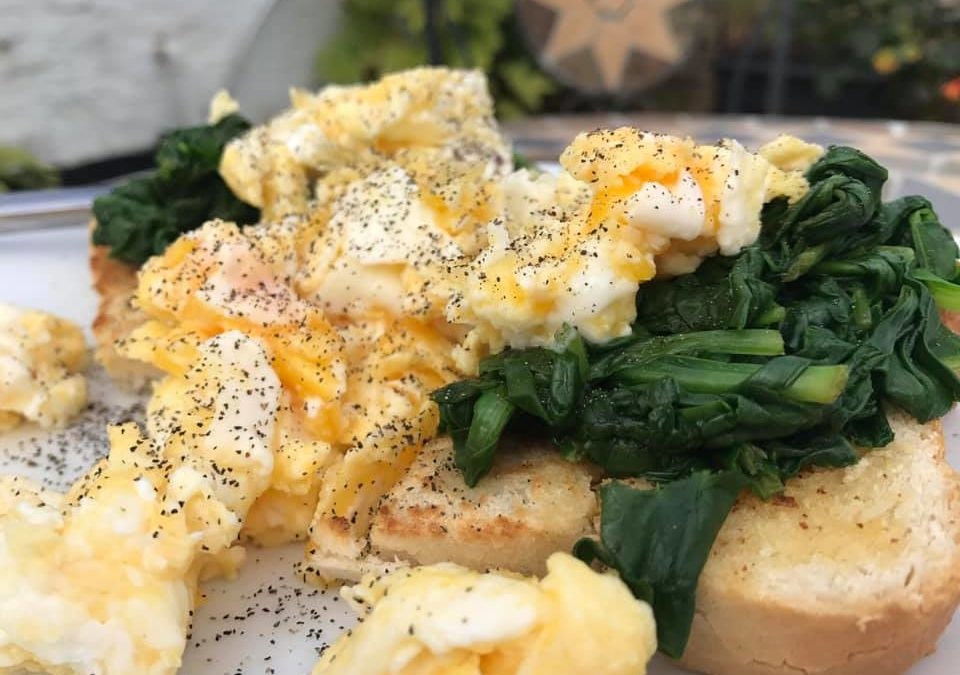Scrambled Eggs and Spinach